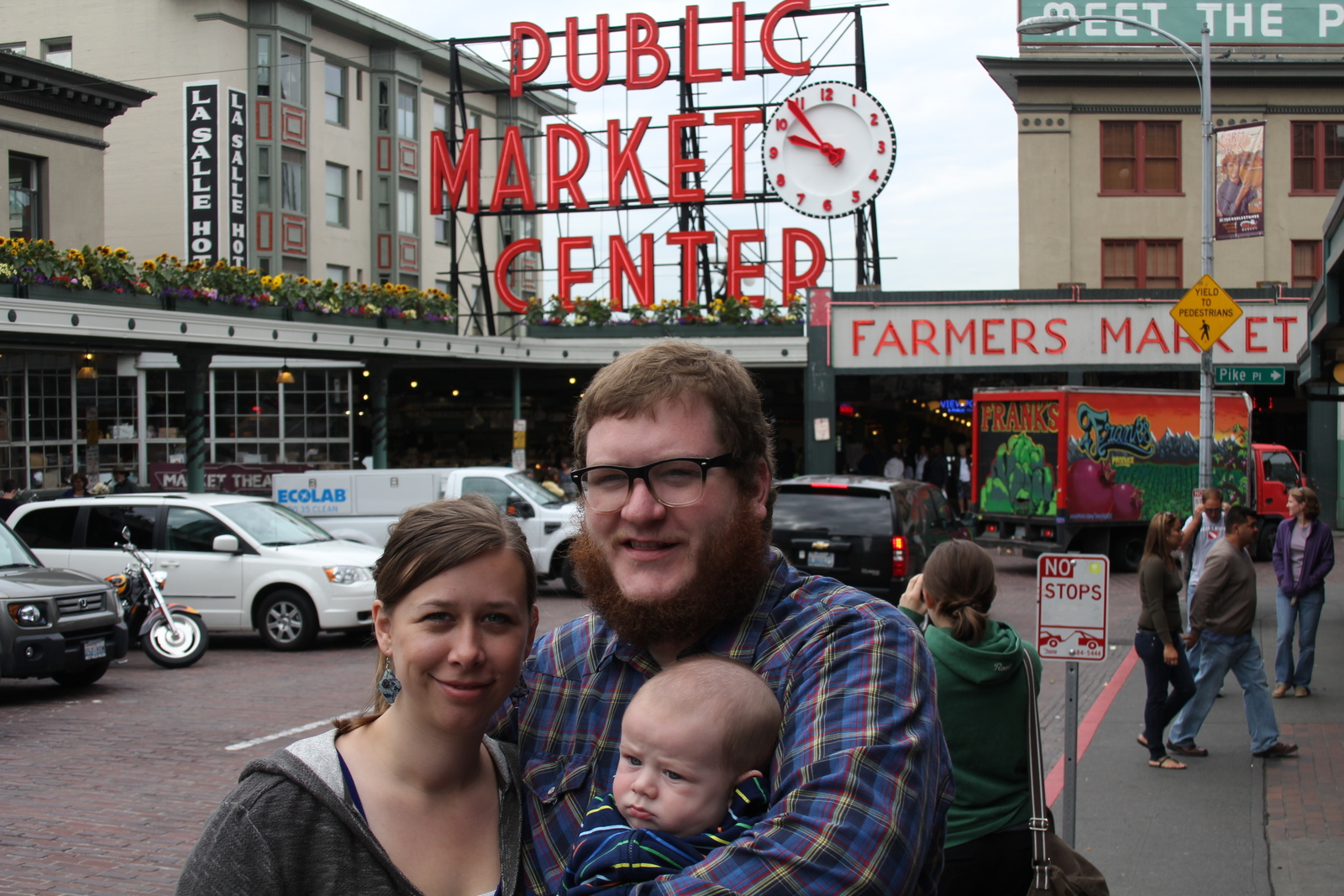 The family at Pike's Market