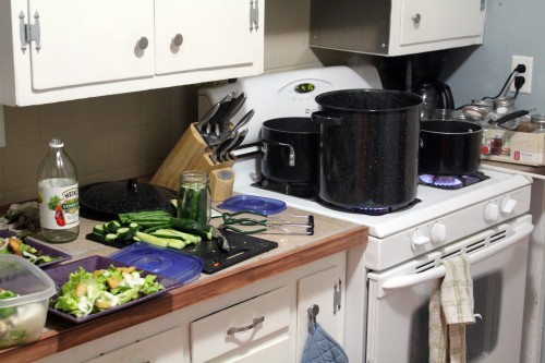 Kitchen during Canning