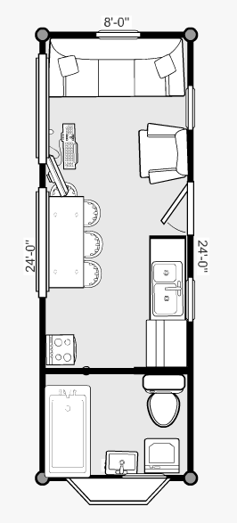 The pre trailer floor plan tiny house fat crunchy for Tiny house trailer floor plans