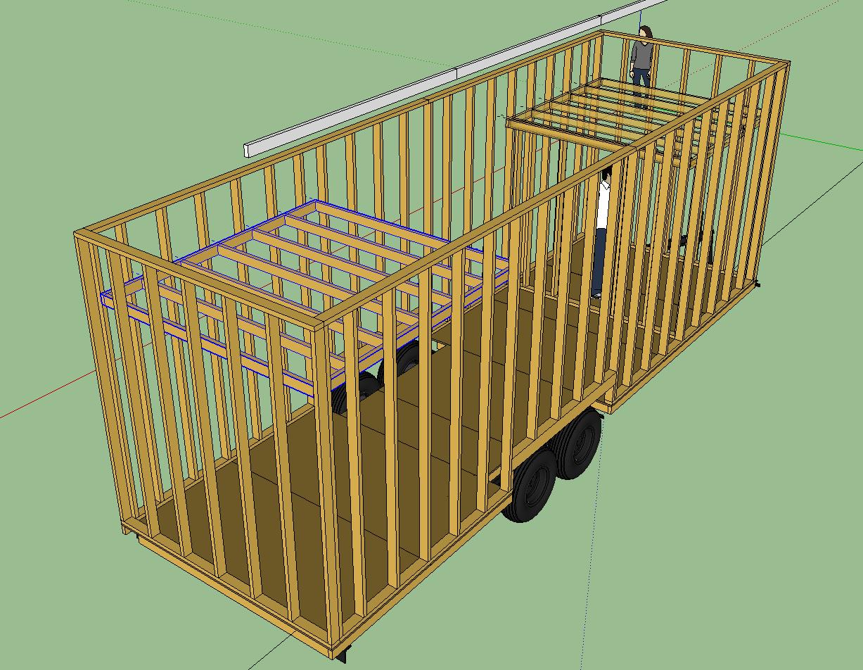 Tiny House Floor Plans Trailer the pre-trailer floor plan : tiny house | fat & crunchy