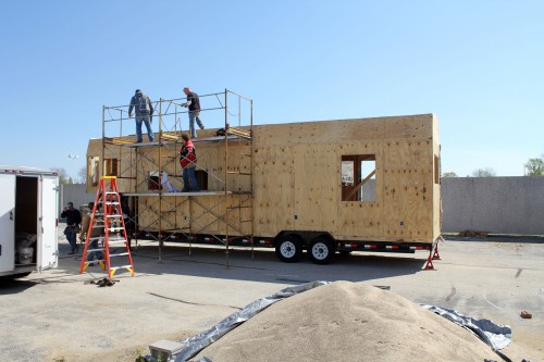 Sheathing tiny house fat crunchy for Sheathing house wrap