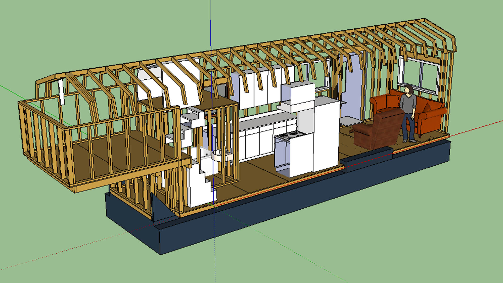 The updated layout tiny house fat crunchy for Tiny house trailer floor plans