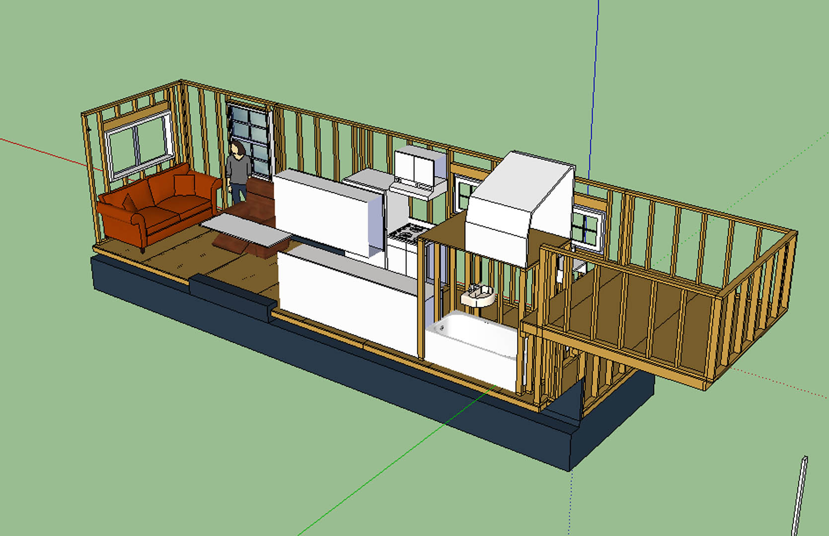 The updated layout tiny house fat crunchy for Tiny house building plans