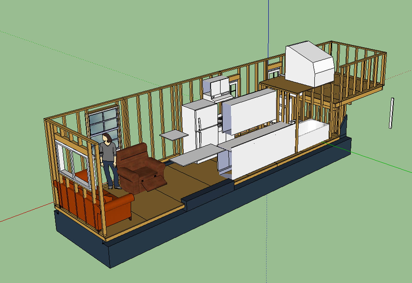 Petumbly boy the updated layout tiny house for Small house layout design