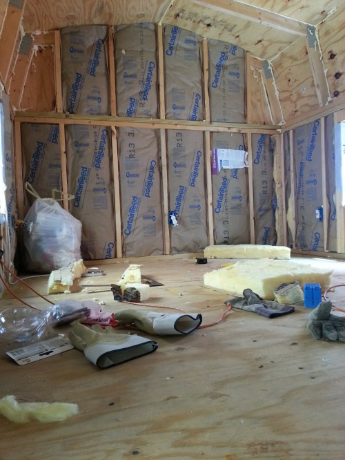 Tiny House Insulation Bedroom