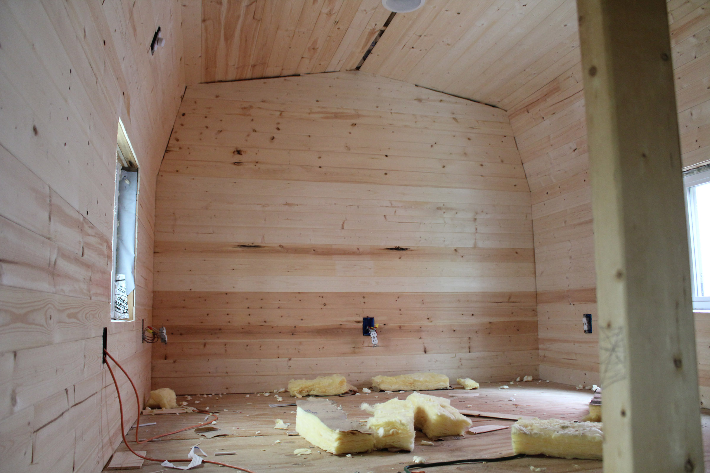 Insulation And Pine Board Tiny House Fat Amp Crunchy
