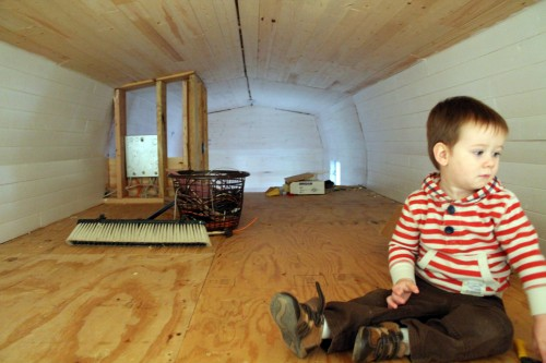 Elliot enjoying his Tiny House loft