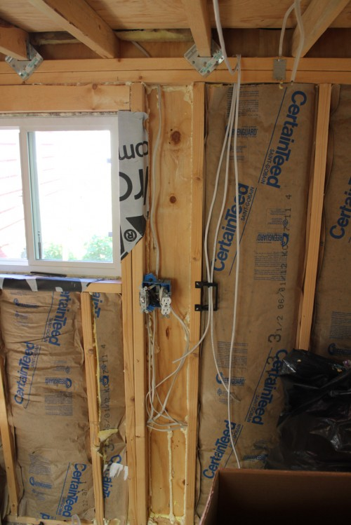 Tiny House insulation and electrical whole house audio