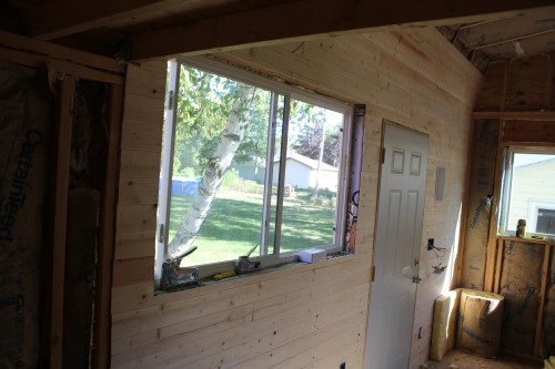 Tiny House Wall Pine Board Tongue and Groove Planking